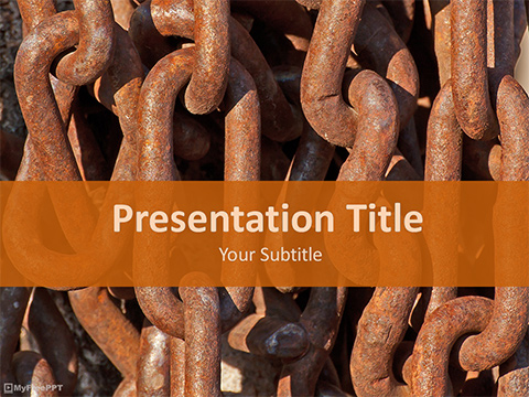 Free Rusty Chain PowerPoint Template
