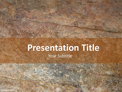 Free Rusty Rock PowerPoint Template