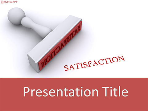 Satisfaction Stamp PowerPoint Template