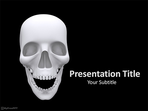 Free Scary Skull PowerPoint Template