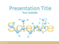 Free Scientific Molecules PowerPoint Template