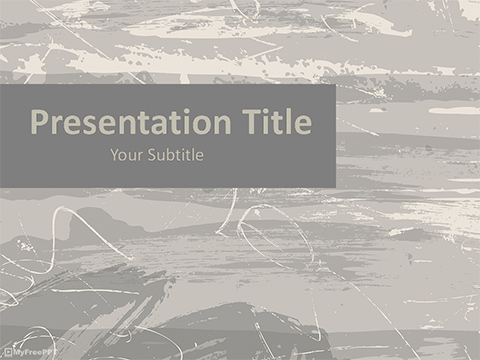 Free Scratchy Surface PowerPoint Template