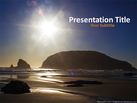 Free Sea Landscape PowerPoint Template