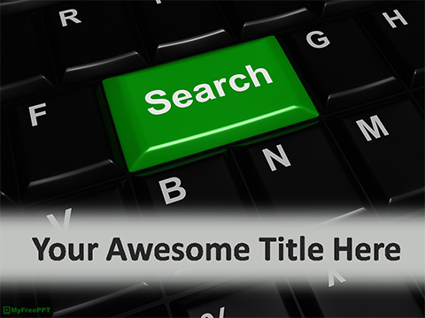 Free Search Key PowerPoint Template