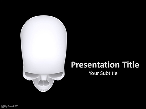 Free Skull Scalp PowerPoint Template