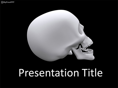 Free Skull Side View PowerPoint Template