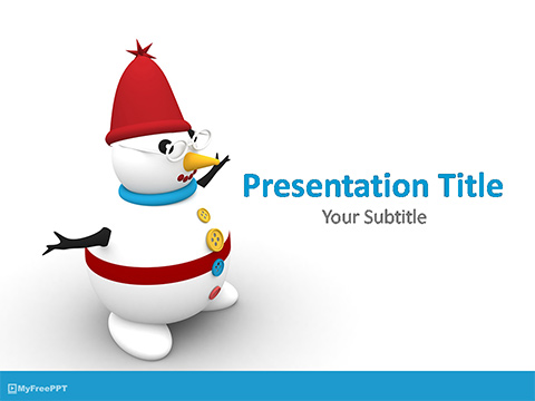 Snowman Character PowerPoint Template
