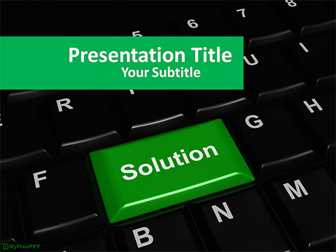 Free Solution PowerPoint Template
