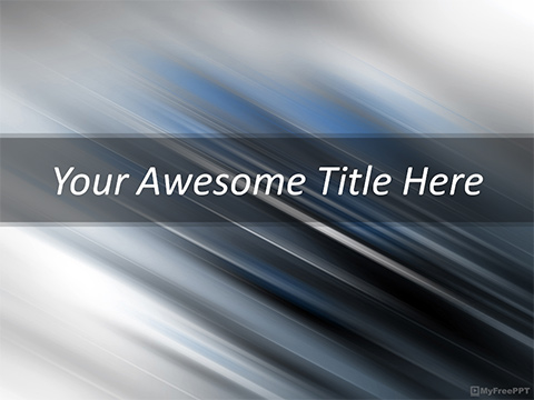 Free Speed Effect PowerPoint Template