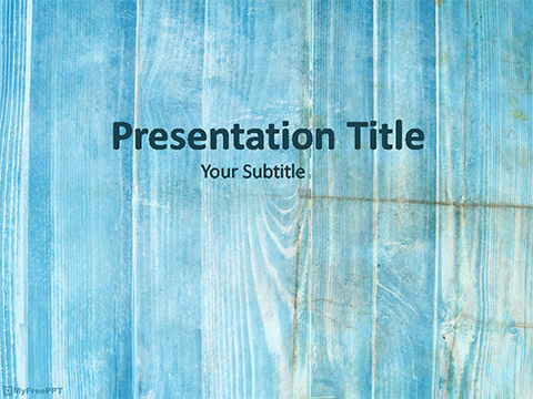 Free Subtle Wooden PowerPoint Template