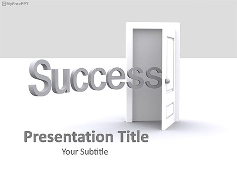 Free Success Door PowerPoint Template
