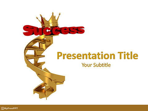 Free Success Stairs PowerPoint Template