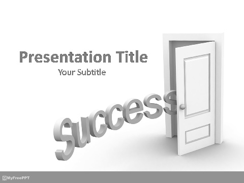 Free Success at Your Doorstep PowerPoint Template