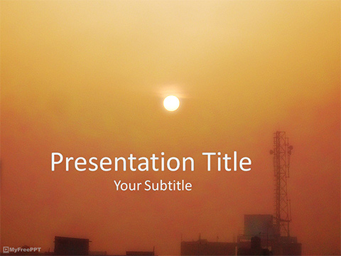 Free Sunset PowerPoint Template