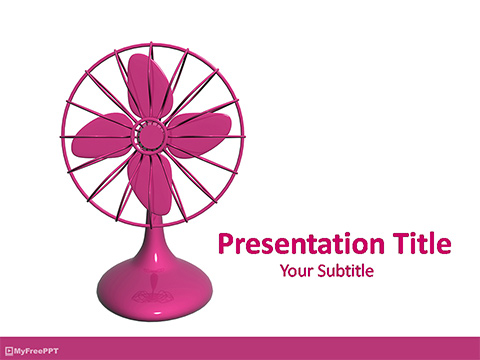 Free Table Fan PowerPoint Template