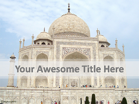 Free Ancient Taj Mahal PowerPoint Template