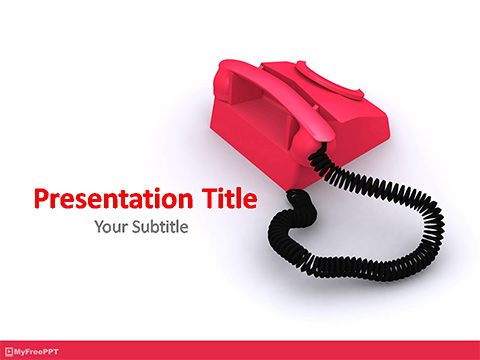 Free Telephone PowerPoint Template