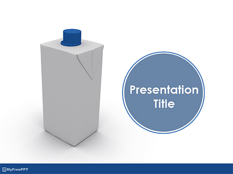 Tetra Pak Bottle PowerPoint Template
