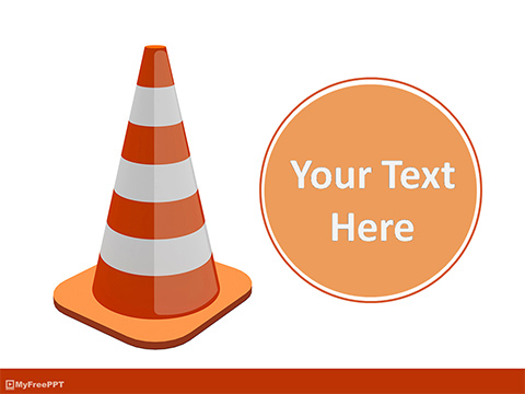 Free Traffic Cone PowerPoint Template