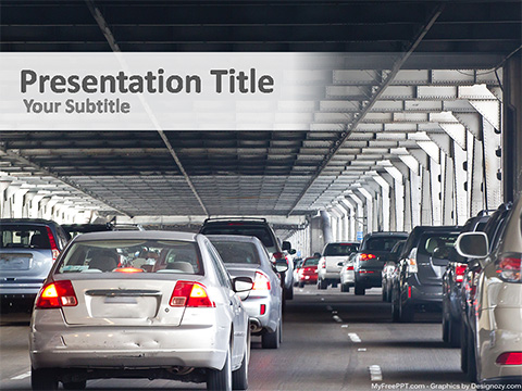 Free Traffic Jam PowerPoint Template