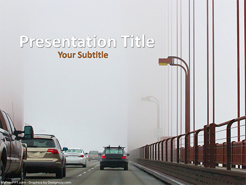 Free Traffic Vehicles PowerPoint Template