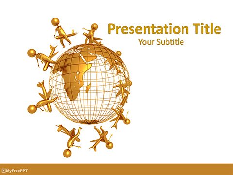 Travel Around Earth PowerPoint Template