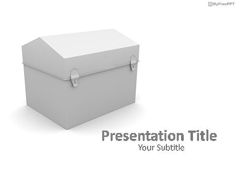 Free Treasure Box PowerPoint Template