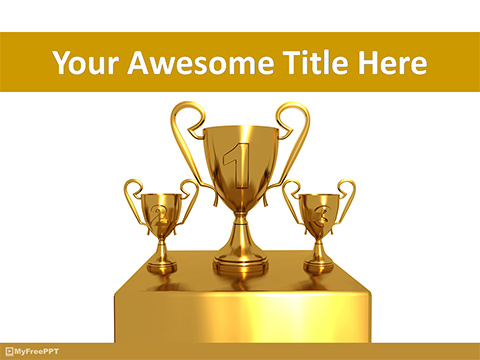 Free Trophies for Winner PowerPoint Template