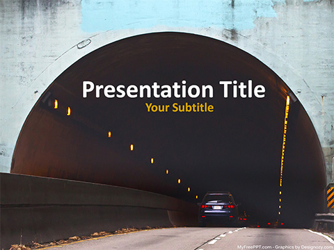 Tunnel PowerPoint Template