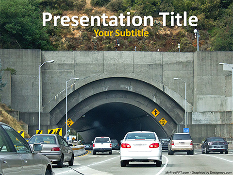 Tunnel Road PowerPoint Template