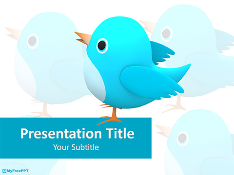Free Tweet Bird PowerPoint Template