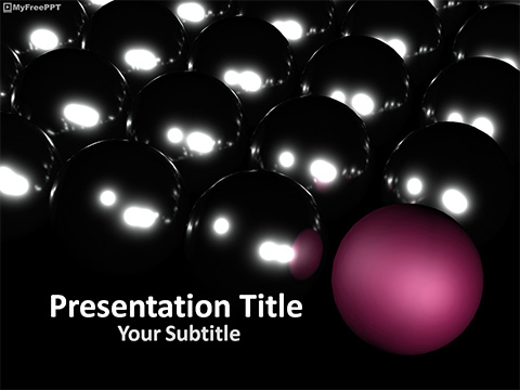 Free Unique Ball PowerPoint Template