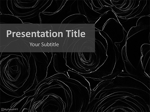 Free Urban Roses PowerPoint Template