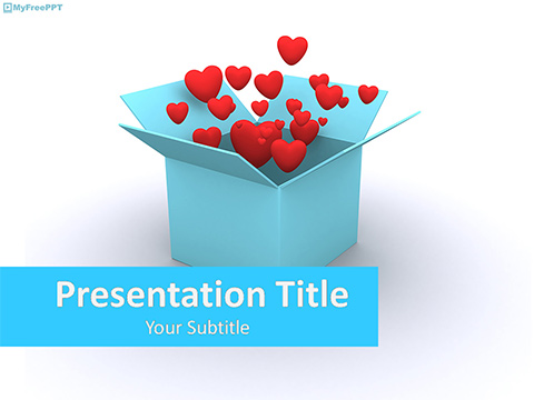 Free Valentine Heart Box PowerPoint Template