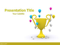Free Victory Cup PowerPoint Template