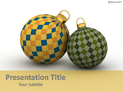 Vintage Baubles PowerPoint Template