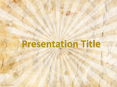 Free Vintage Sunbeam PowerPoint Template