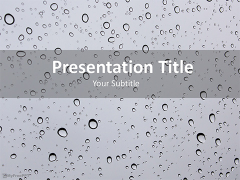 Free Water Drops Powerpoint Template Download Free