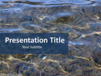 Free Water Reflection PowerPoint Template