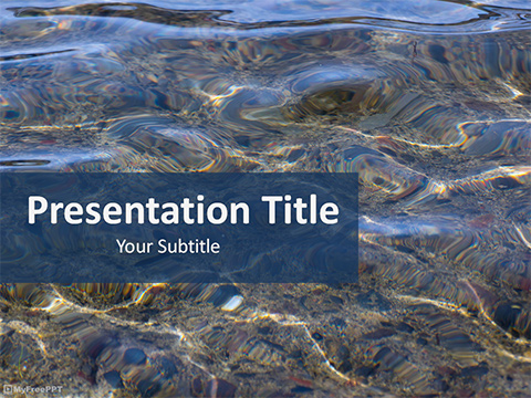 Water Reflection PowerPoint Template