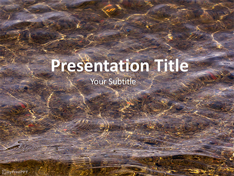 Free Water Texture PowerPoint Template