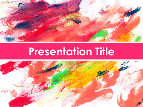 Watercolor Painting PowerPoint Template