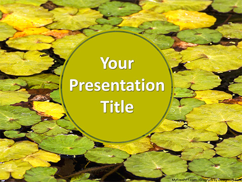 Waterlily Leaves PowerPoint Template