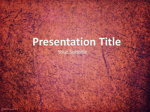 Free Weathered Surface PowerPoint Template