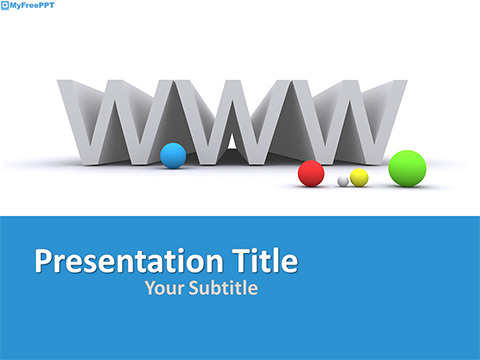 Free Web Domain PowerPoint Template