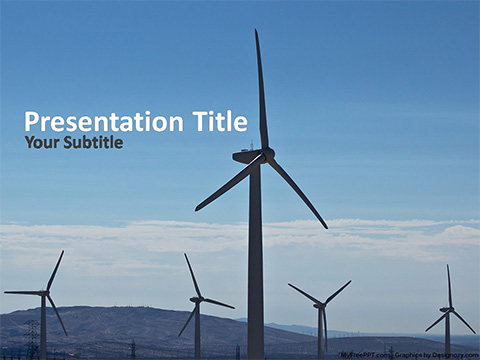 Free Wind Turbines PowerPoint Template