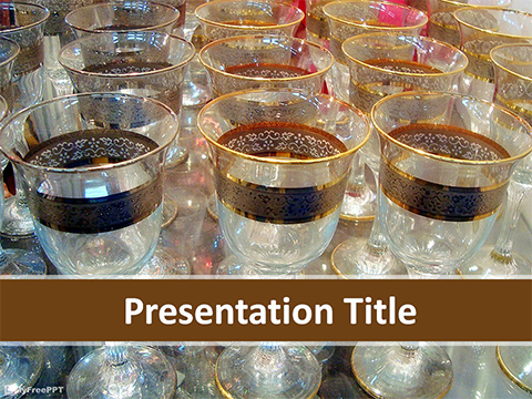 Wine Glasses PowerPoint Template