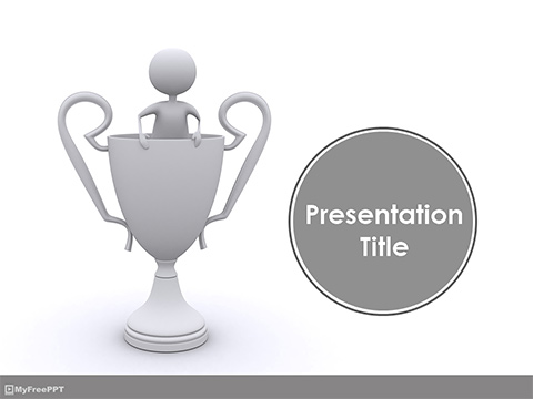 Free Winner Trophy PowerPoint Template