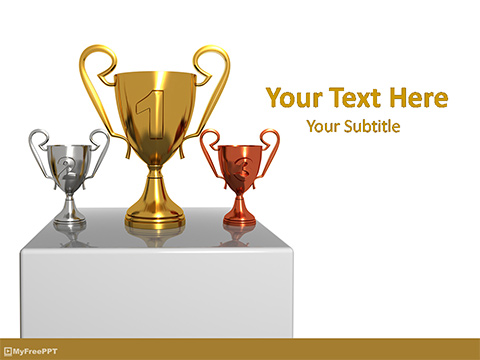 Free Winners Trophies PowerPoint Template