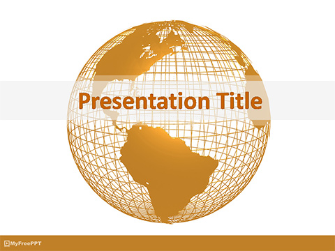 Wireframe Globe PowerPoint Template